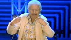 Air Drumming Granny