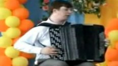 Nerdy Kid Shreds On The Accordion
