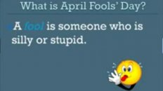 English Mini Lesson - April Fool's Day
