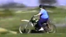 Fat Lady Crashes Dirt Bike
