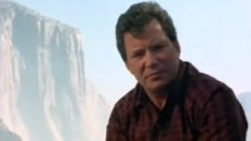 Captain Kirk is climbing a mountain, why is he climbing a mountain?