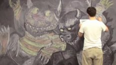 Jamin's Crazy Chalk Drawing: Where The Wild Things Are