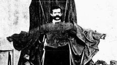 Franz Reichelt Jumps Off the Eiffel Tower