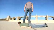 Human Skateboard