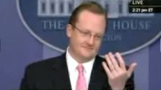 White House Press Secretary Takes Ringing Phone From Reporter During Briefing