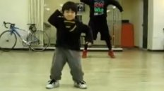 Young Boy Shows Off His Hip Hop Skills