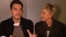 "John Mayer and Ellen Sing Lady Gaga's ""Just Dance"" in the Bathroom!"