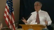 Barney Frank Confronts Woman at Town Hall