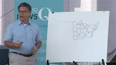 Senator Al Franken Draws Map of USA From Memory
