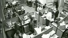 Office Worker Goes Beserk