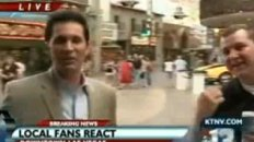 "TV Reporter Slaps Fan During ""Michael Jackson"" Story"