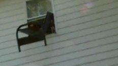 Throwing a Futon out the Window... GONE WRONG!