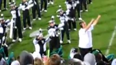 Numa Numa Guy Conducts MSU Marching Band Halftime Show