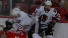 Adam Burish Gets Throat Cut By Skate Blade