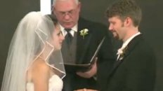 Bride Can&#039;t Stop Laughing During Vows